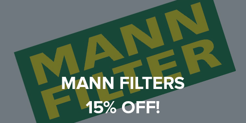 15% off all MANN Filters!