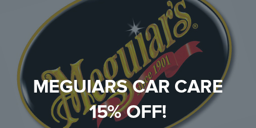 15% off all Meguiars car care products!