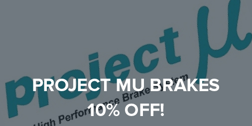 10% off all Project Mu Performance Brakes!