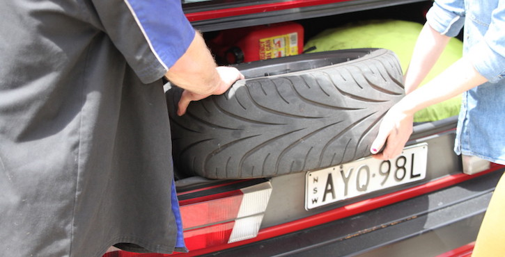 How to change a tyre: Retrieve your spare wheel