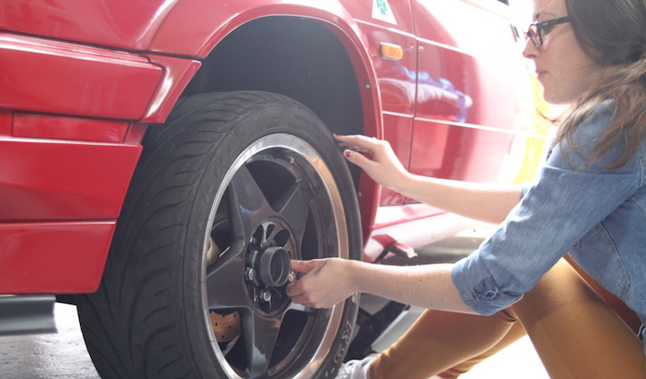 How to change a tyre: Fit the spare wheel