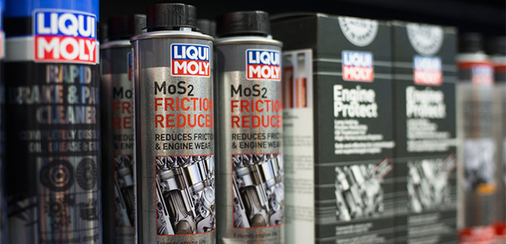 LIQUI-MOLY MoS2 Friction Reducer on Shelf