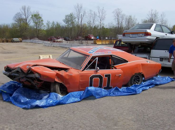 A stunt General Lee that has seen better days