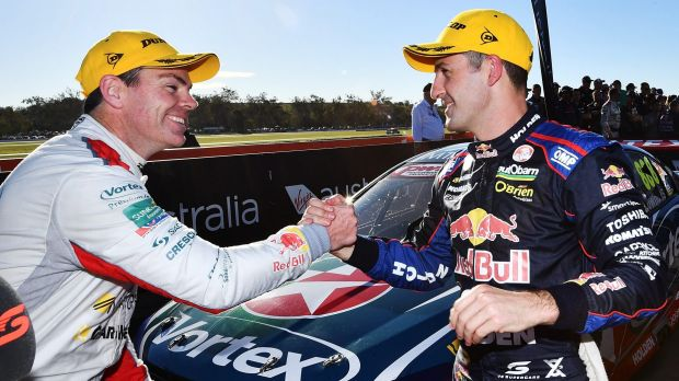 Congratulations! Craig Lowndes and Jamie Whincup source: getty images, smh.com.au
