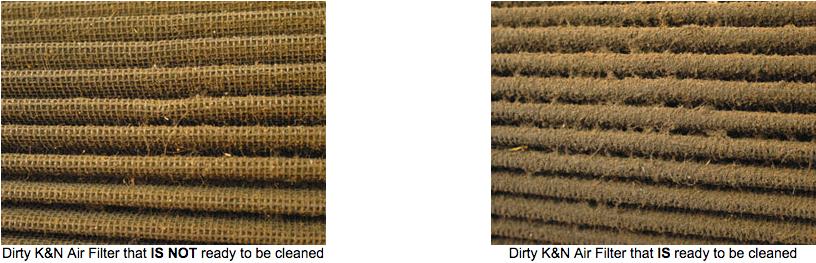 K&N Dirty vs. K&N Clean