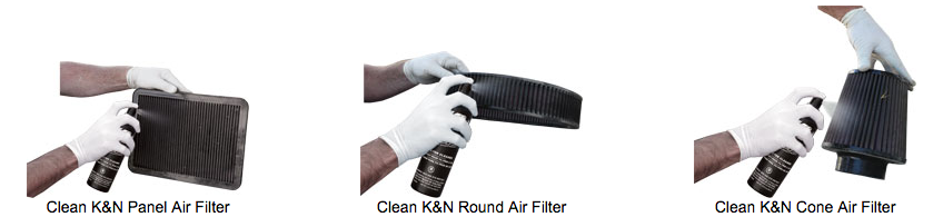 Clean K&N Round Air Filter