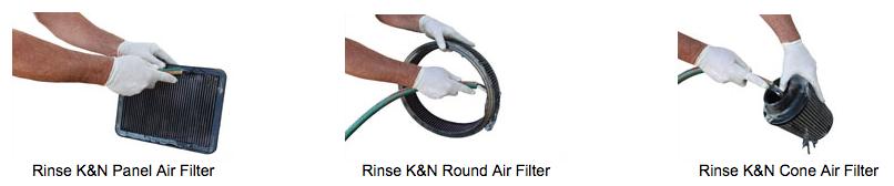 Clean K&N Panel Filter