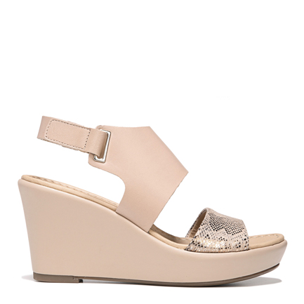 Nenna Taupe Snake Wedges Sale View All
