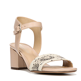 Caitlyn Taupe/Black/White Sandals
