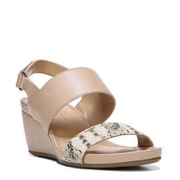 Callas Taupe/Black/White Wedges