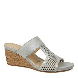 Candace Silver Wedges