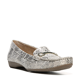 Genevieve Gold/White $89 FLATS & CASUALS