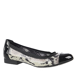 Therese Black/White/Snake Flats