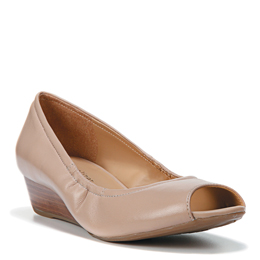 Contrast Tender Taupe Wedges