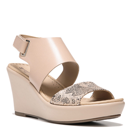 Nenna Taupe Snake Wedges