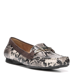 Saturday Taupe Snake Flats