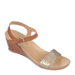 Silva Tan/Metallic Sandals