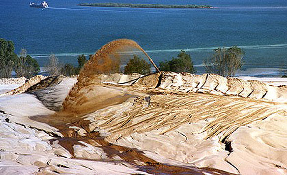 Sand Mining On North Stradbroke Island