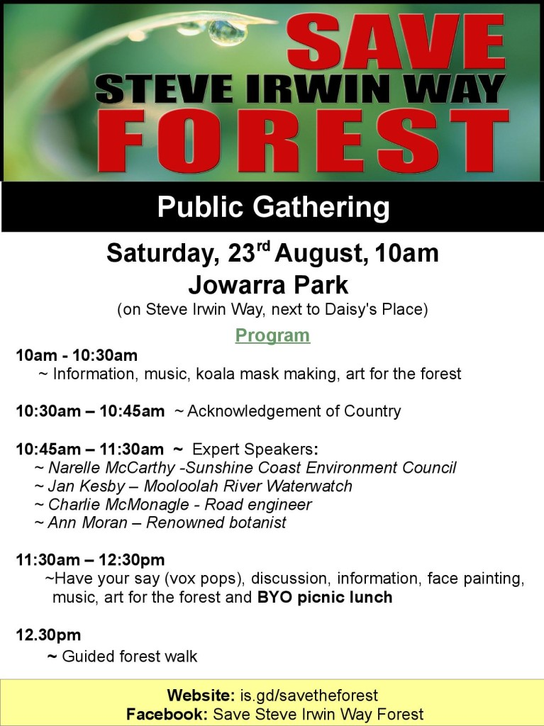 Gathering for the Forest program 23Aug14