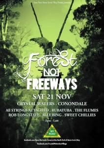 Forests not Freeways 21Nov15-poster
