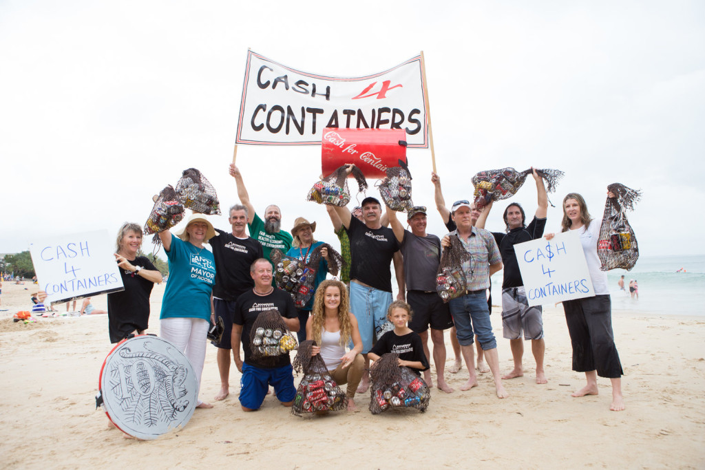 A great day of action to raise awareness about Cash for Containers!
