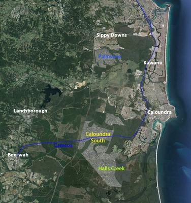 Halls Creek-Caloundra South SEQ Regional Plan context