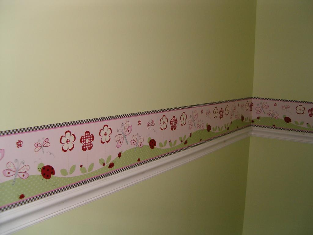 Girls-Room-Paint-Ideas-and-Wall-Border - Rent Blog