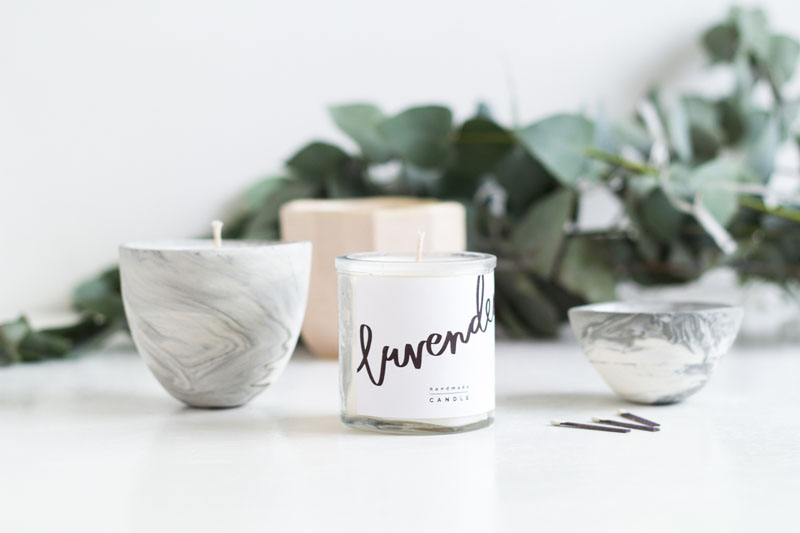 DIY scented candles from Fall For DIY