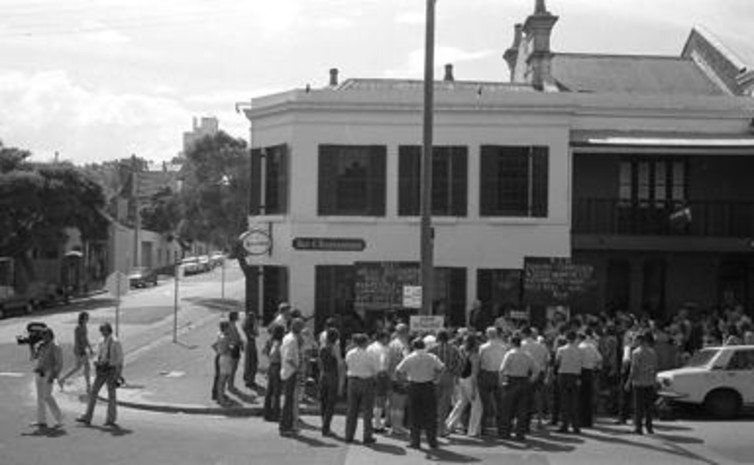 Resident protest, Woolloomooloo, Sydney, ca. 1973. City of Sydney Archives
