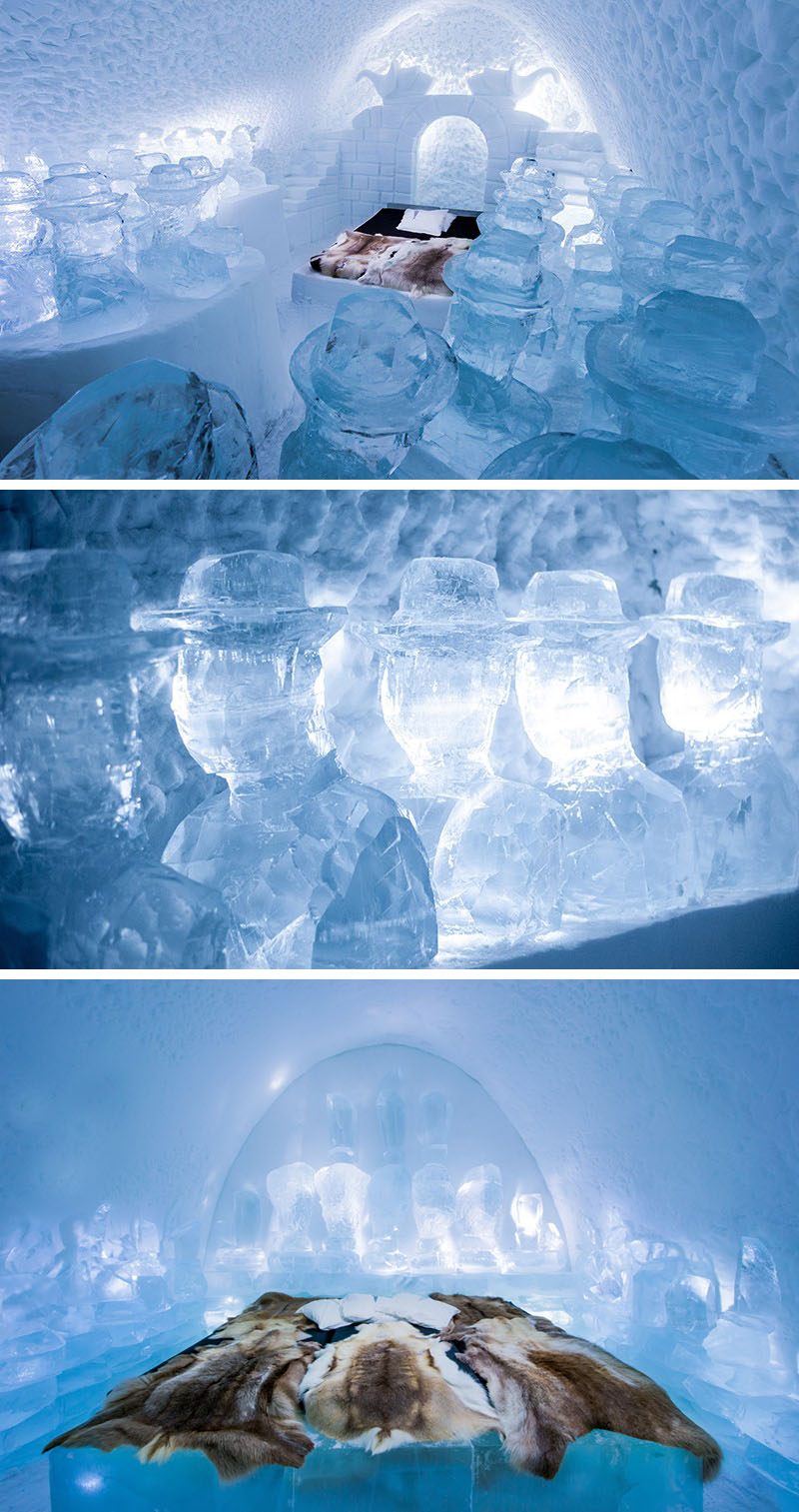 Art Suite – Momo's – designed by Lotta Lampa & Julia Gamborg Nielsen. Photography by Asaf Kliger | ICEHOTEL.