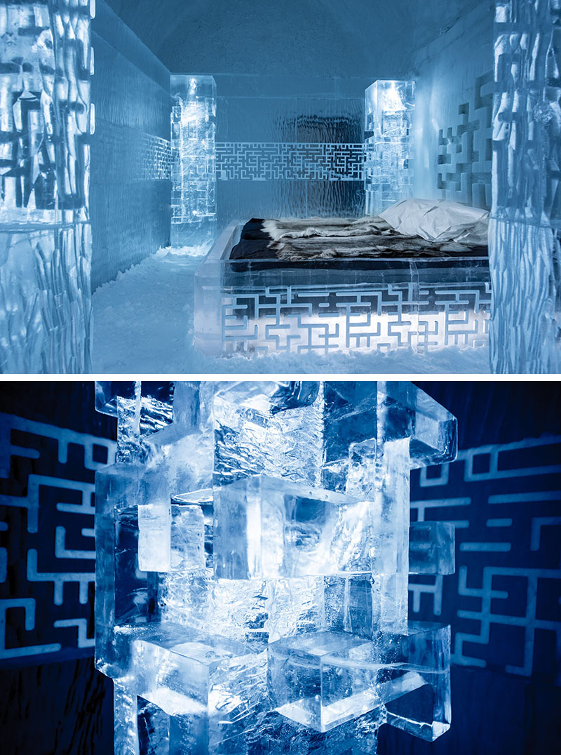 Deluxe Suite – Don't Get Lost – designed by Tommy Alatalo. Photography by Asaf Kliger | ICEHOTEL.