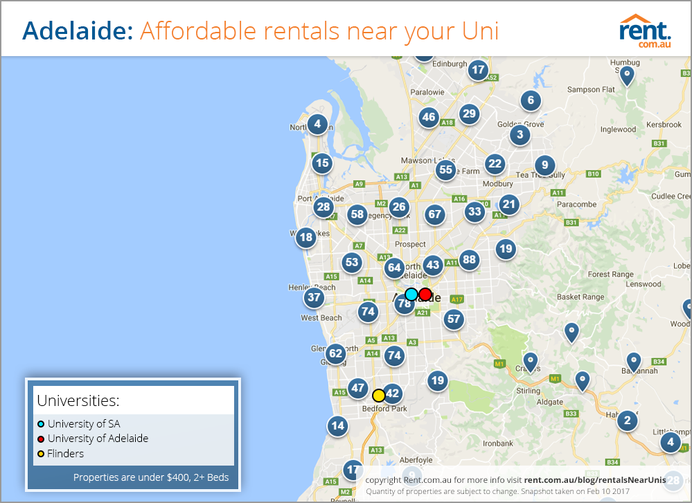 affordable university suburbs
