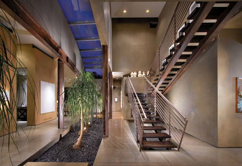 Row-of-ponytail-palms-in-a-well-lit-interior