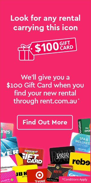 Get $100 when you find your next rental through rent.com.au | Conditions Apply