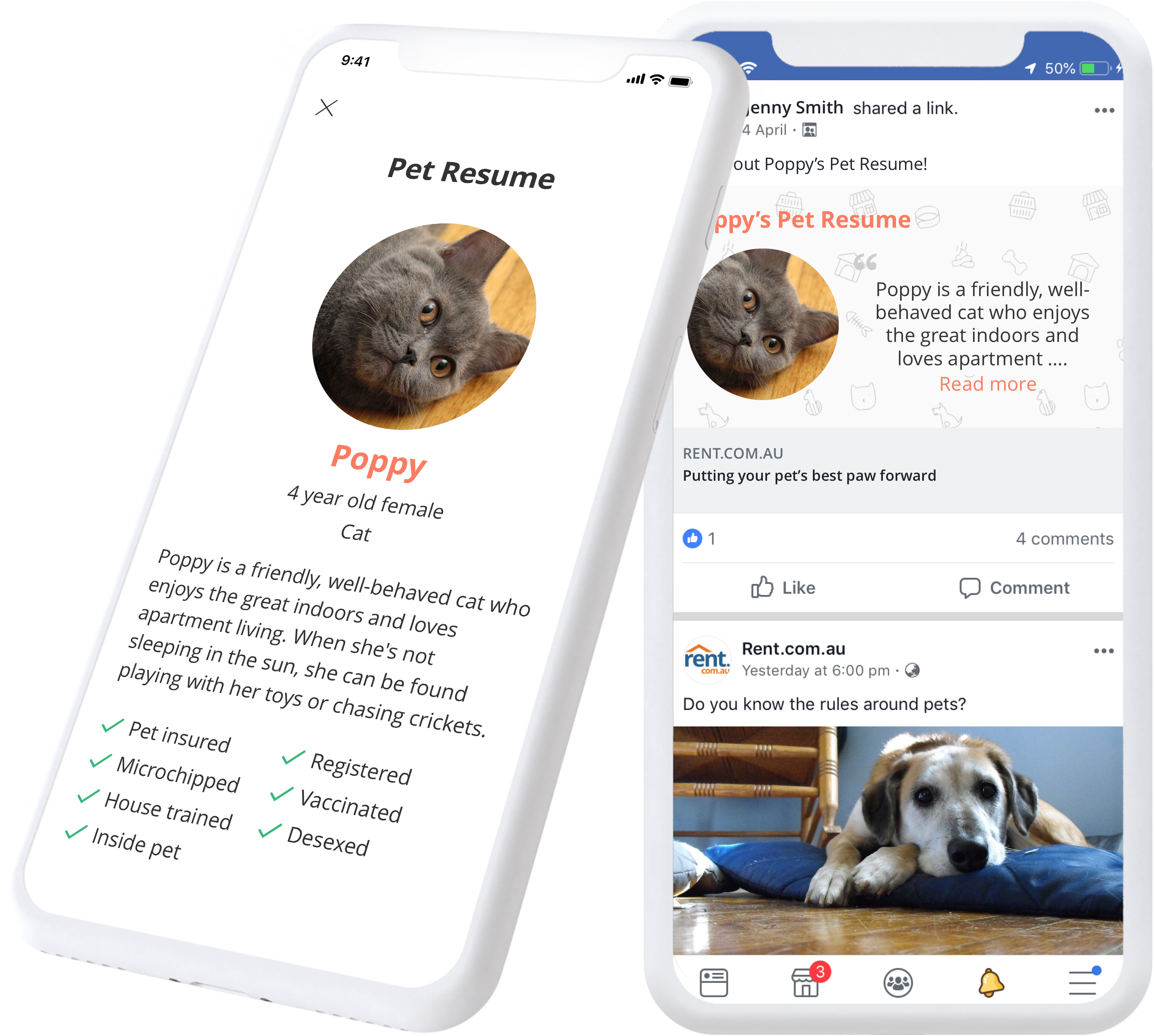 Create your Pet Resume on Rent.com.au today