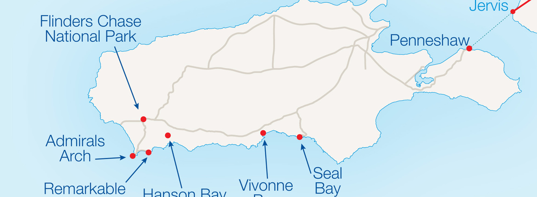 Map Of Adelaide And Kangaroo Island