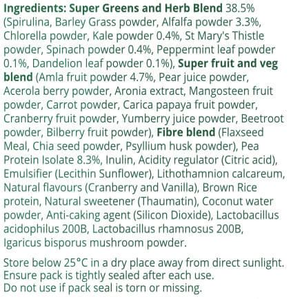 Super Greens - ingredients