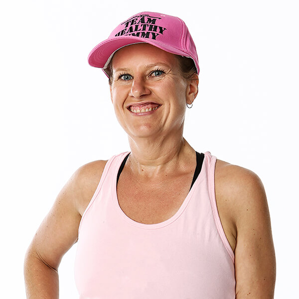 Team Healthy Mummy Pink Cap