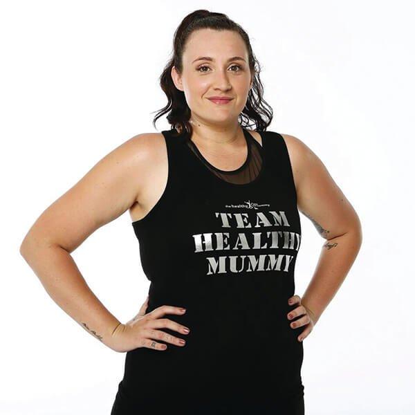 Team Healthy Mummy Metallic singlet
