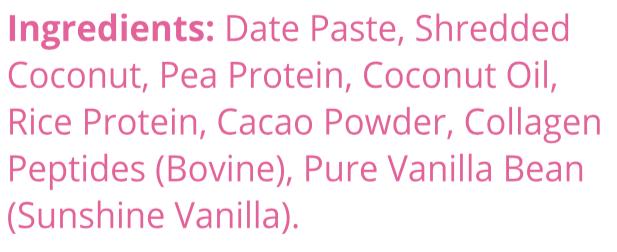 lamington+collagen snack bars