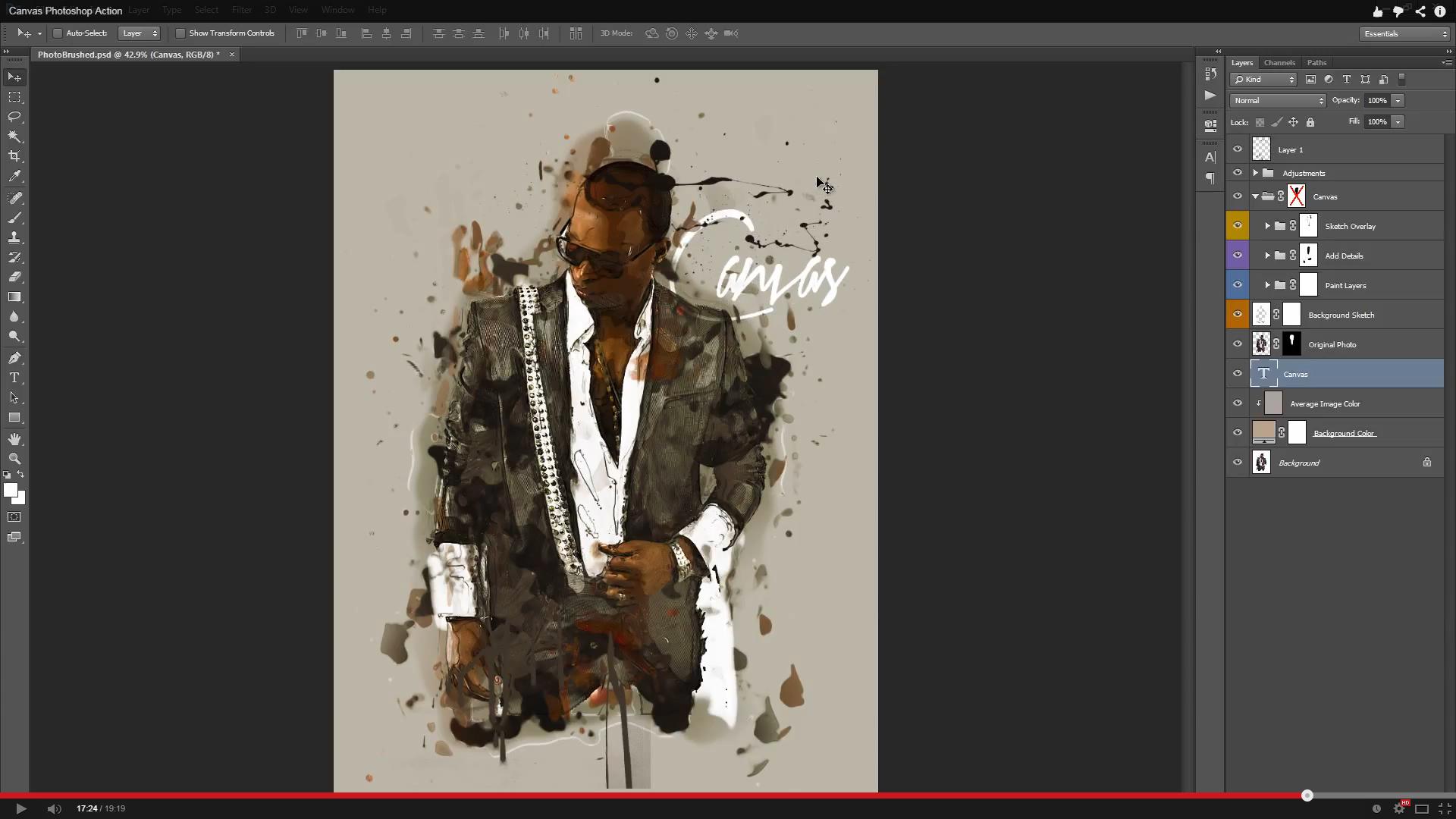 Canvas Photoshop Action - 1