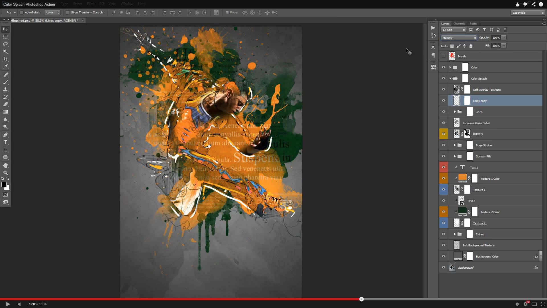 Color Splash Photoshop Action - 1