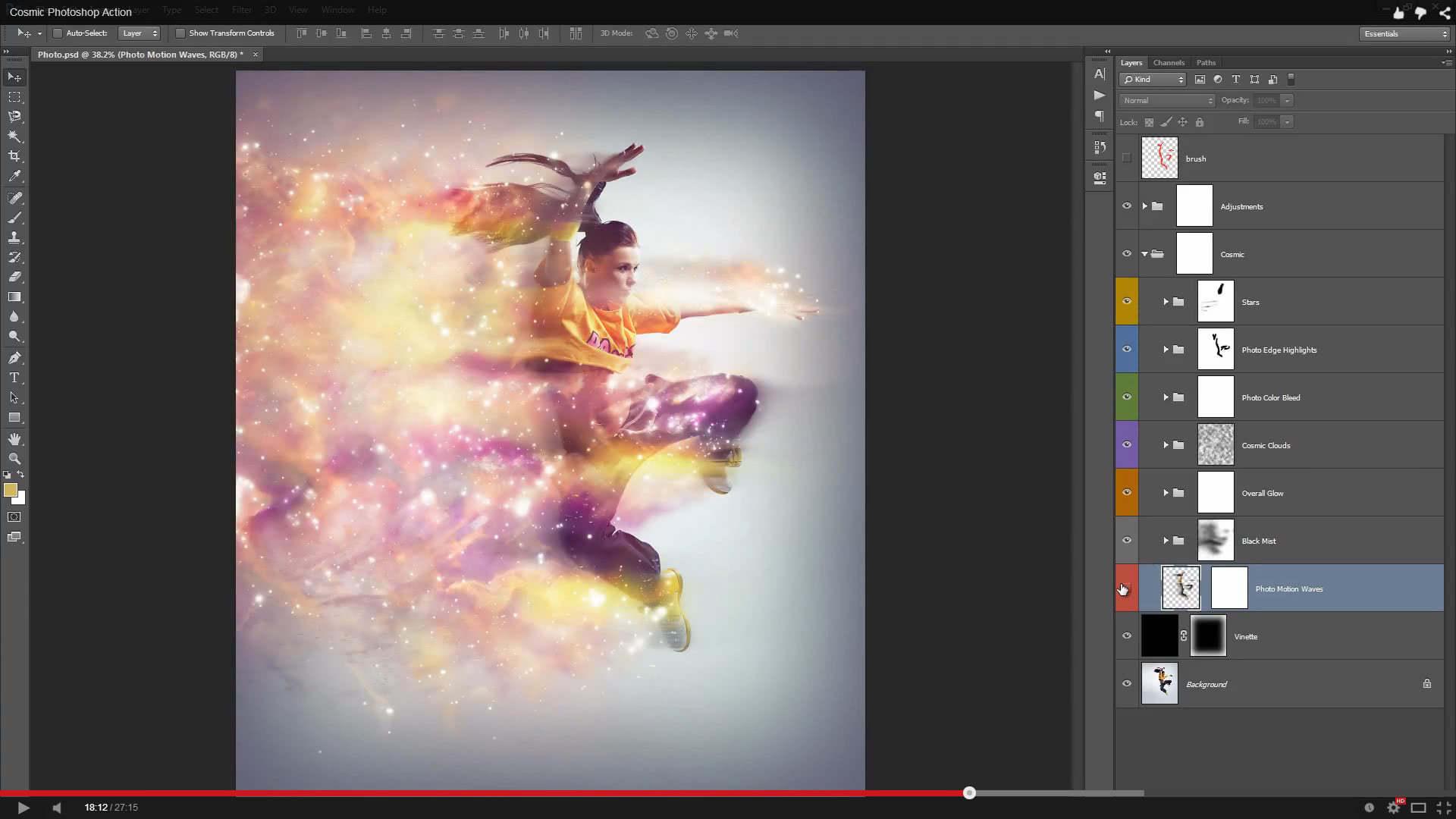 Cosmic Photoshop Action - 1
