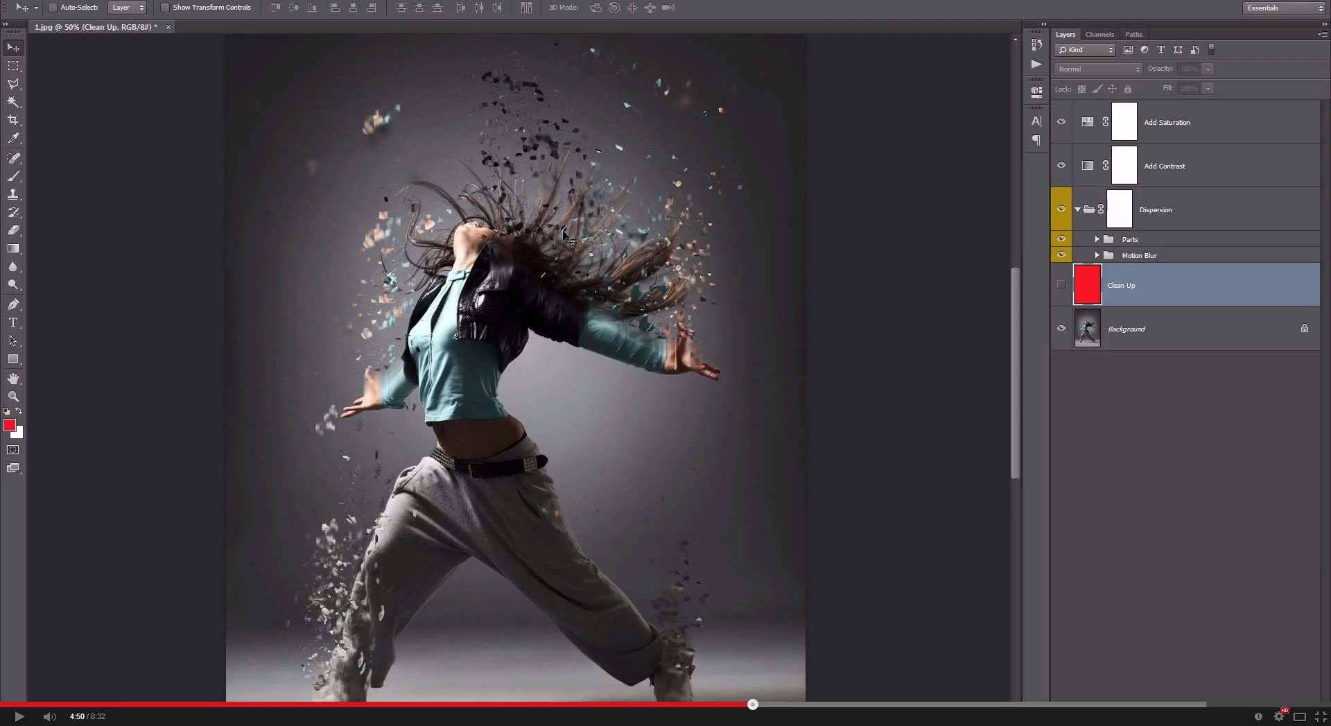 Dispersion Photoshop Action - 1