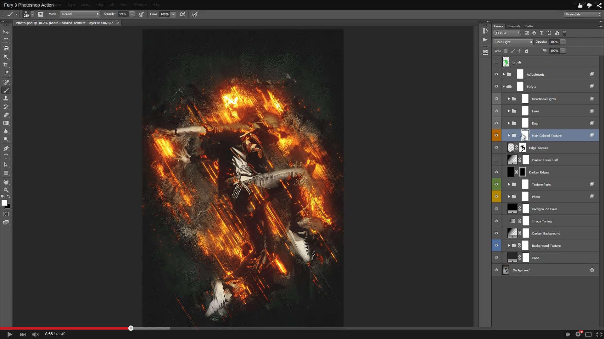 Fury 3 Photoshop Action - 1