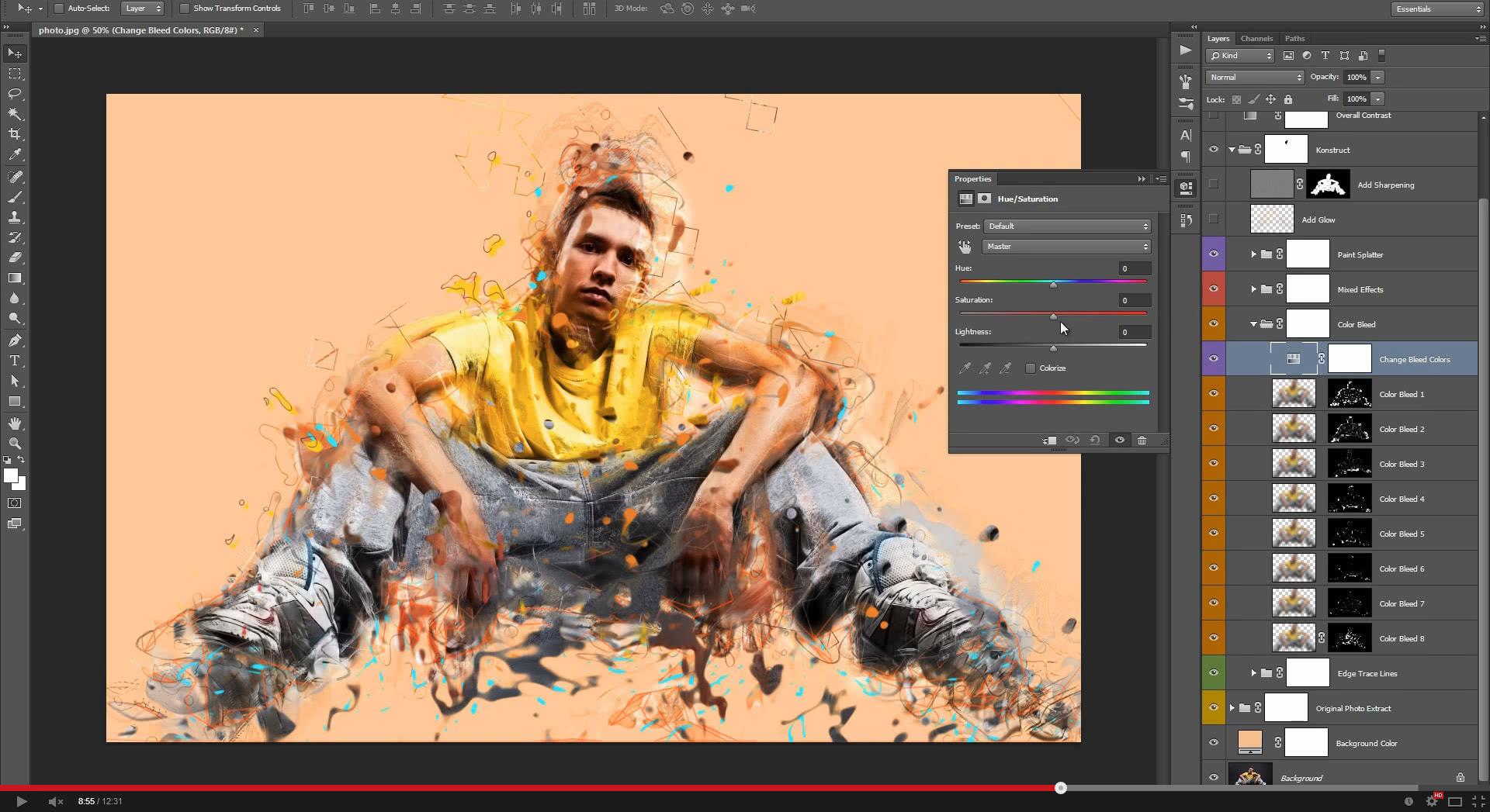 Konstruct Photoshop Action - 1