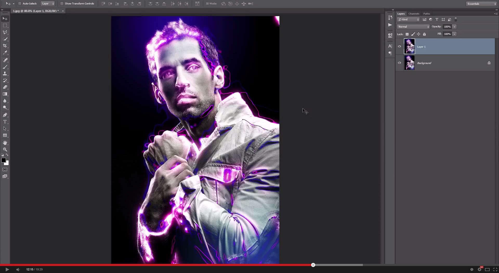 Light Runner Photoshop Action - 1