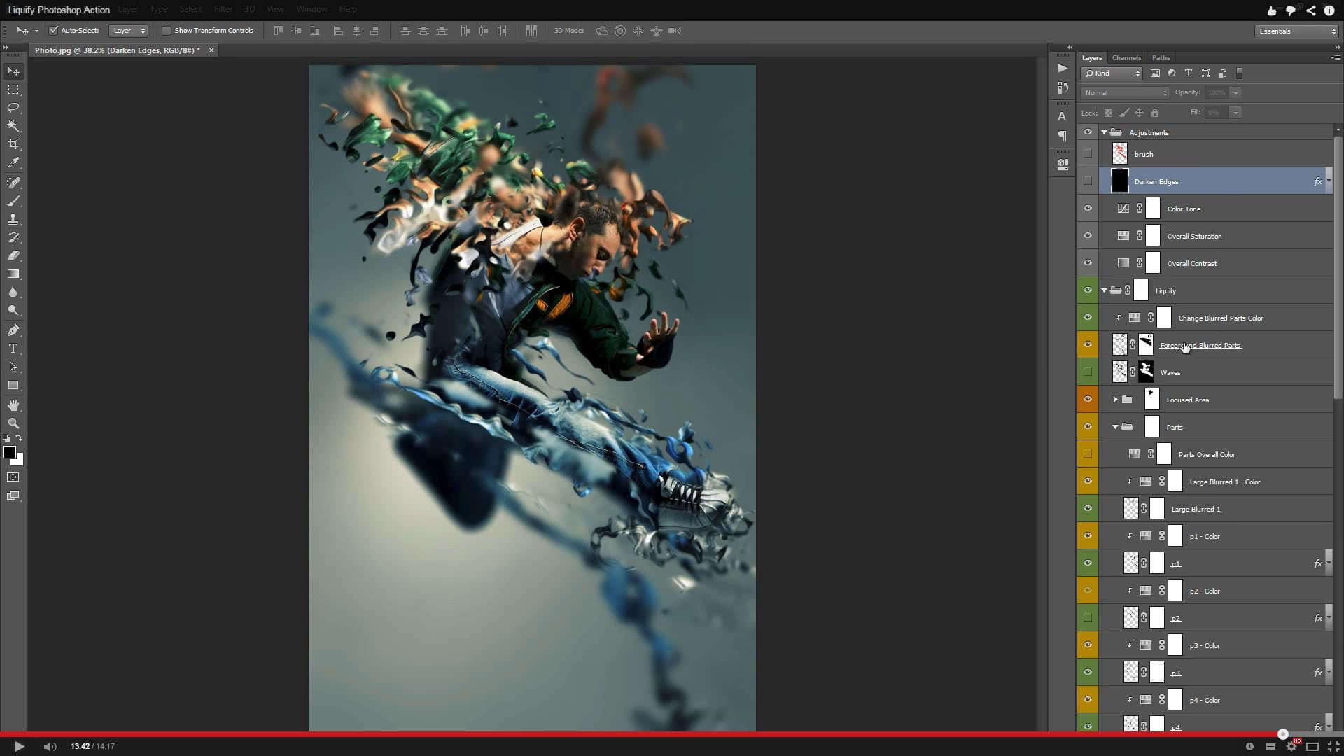 Liquify Photoshop Action - 1