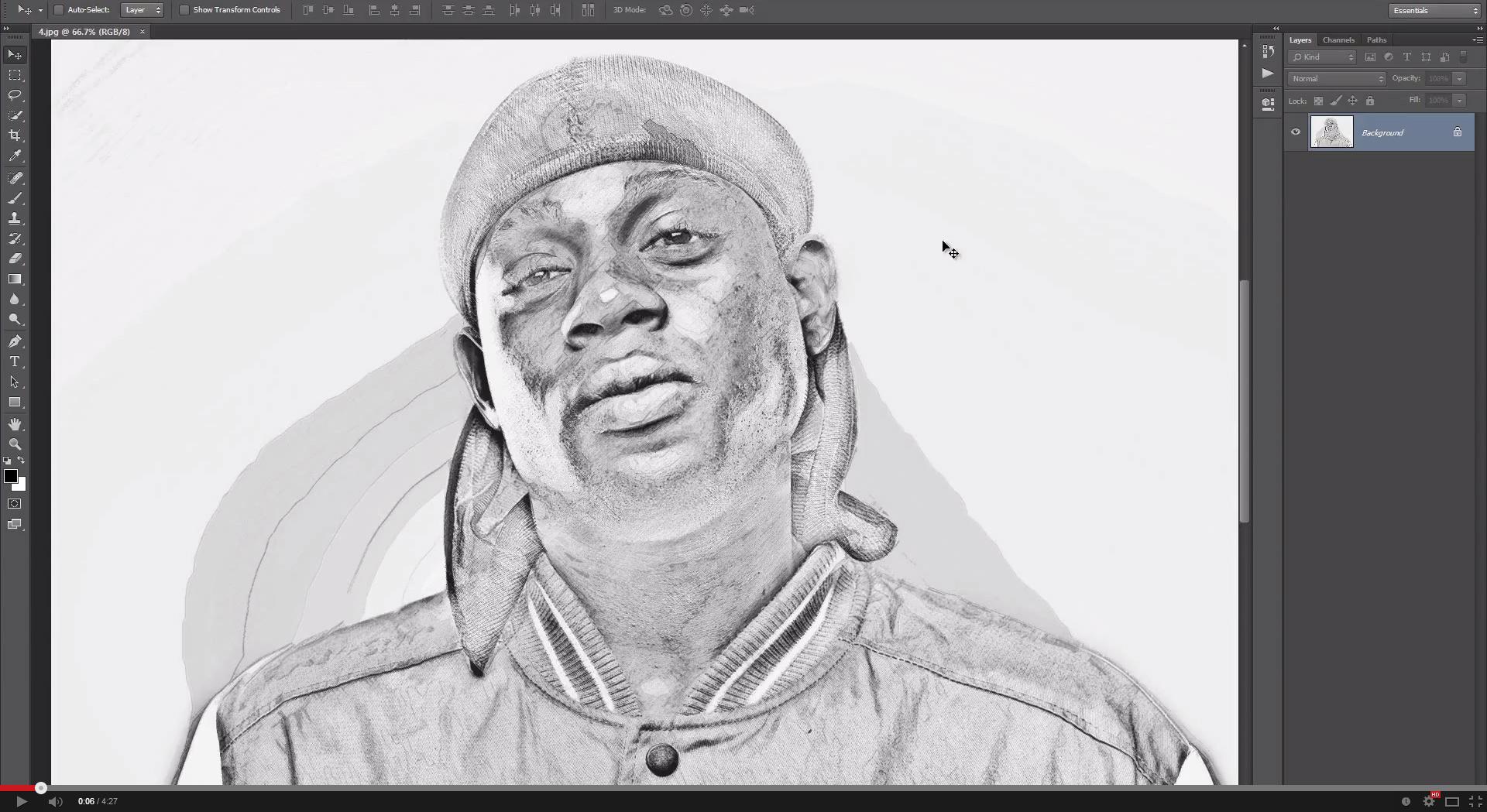SketchIt Photoshop Action - 1