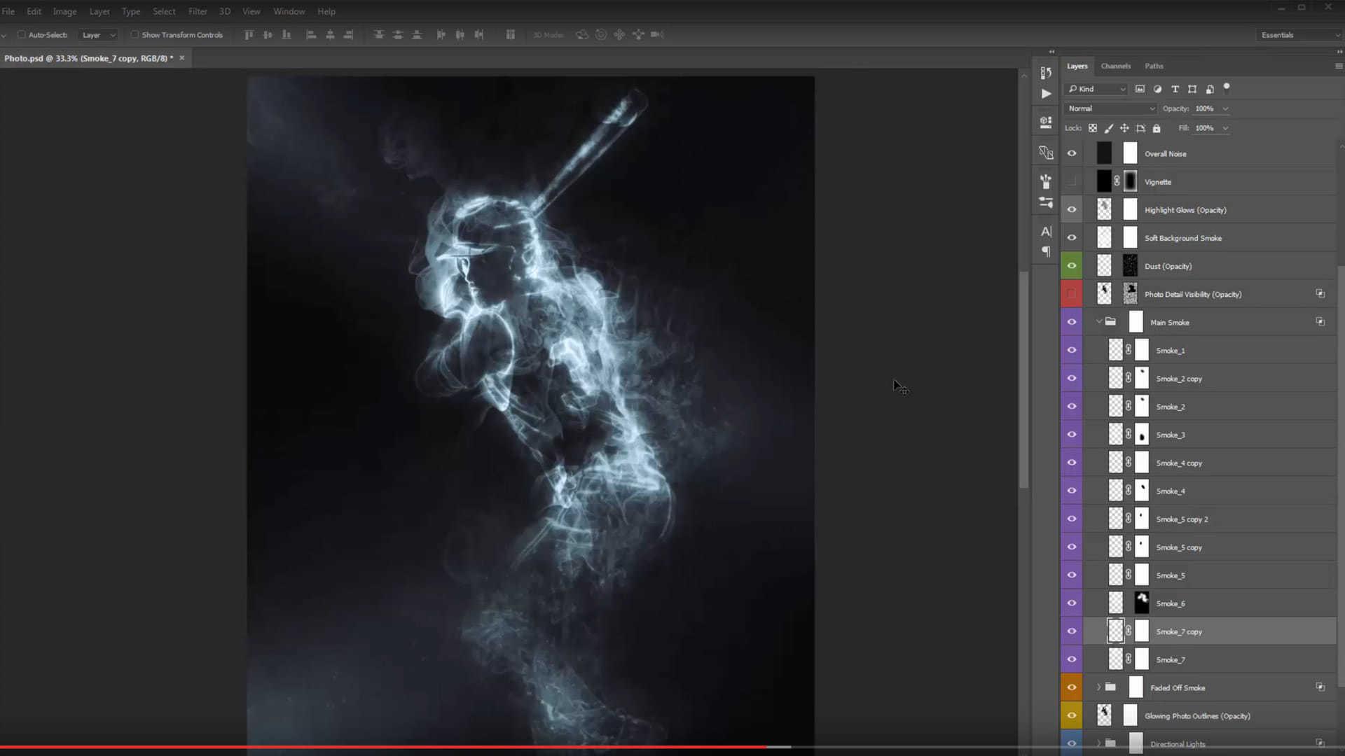 Smoke Photoshop Action - 1
